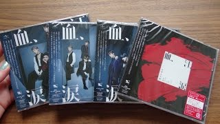 Unboxing BTS (Bangtan Boys) 防彈少年團 7th Japanese Single Blood Sweat & Tears [All 4 Editions]