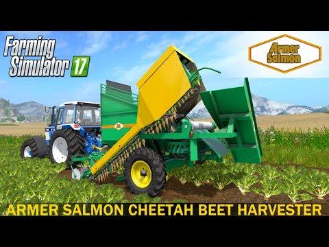 Armer Salmon Cheetah Beet Harvester - FS 17 Combines - Farming