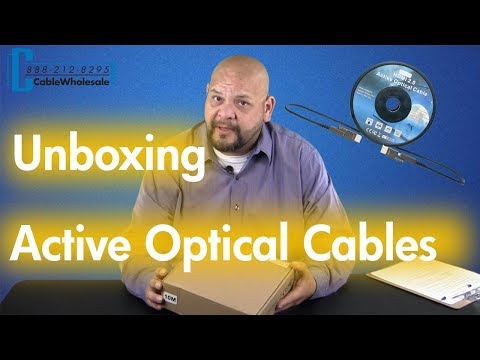 Unboxing 4K HDMI Fiber Optic AOC Cables (Active Optical Cable)
