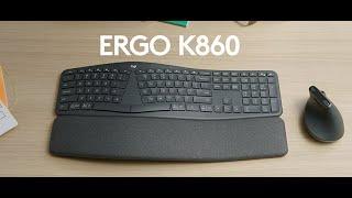Video 0 of Product Logitech ERGO K860 Wireless Split Ergonomic Keyboard (920-009166)