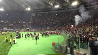 Contestazione CURVA SUD A ROMA Vs Fiorentina 19/03/2015