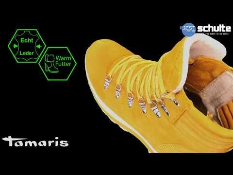 Tamaris Stiefeletten senf gelb Leder Warmfutter HW2019