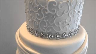 Renees Gourmet Cake Elegant And Bling Wedding Cake