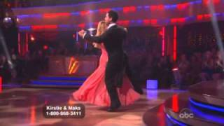 Kirstie Alley and Maksim Chmerkovskiy Dancing with the Stars quick step