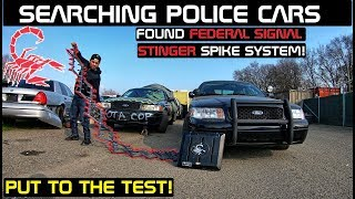 Searching Police Cars Found Stinger Spike System! Crown Rick Auto