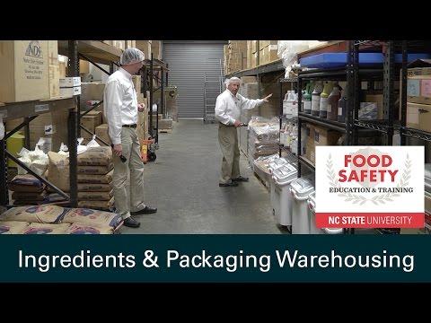 Ingredients & Packaging Warehousing: Food Safety