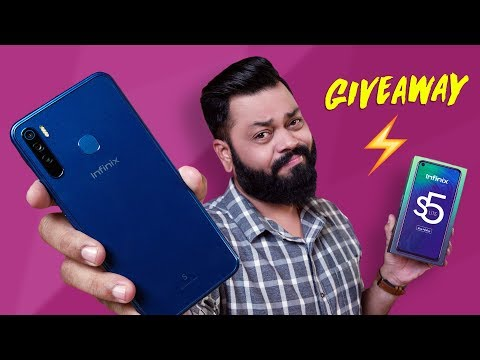 Infinix S5 Lite Unboxing And GIVEAWAY ⚡⚡⚡ Punch-Hole, Triple Cams Under ₹8000
