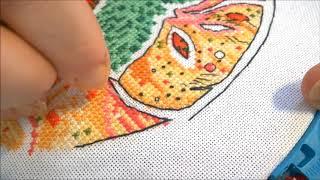 Вышивка как сделать выкладную нить