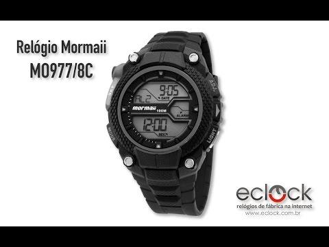 30ac7dbb24fbe Relógio Mormaii Masculino MOY1538 8C - Eclock - Eclock Relógios ...