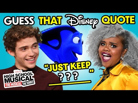 Guess That Disney Quote Challenge   The Cast Of High School Musical The Series Reacts!