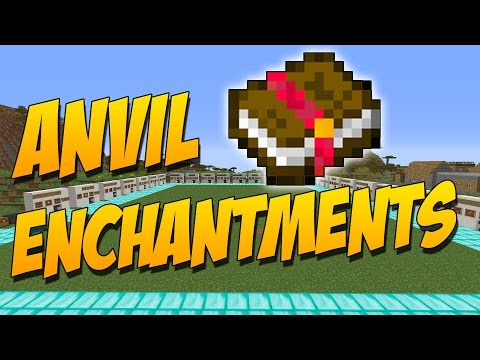 ANVIL ENCHANTMENTS: Mod Para Craftear Libros De Encantamientos - Minecraft Mod 1.9.4/1.9