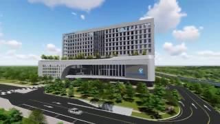 세종충남대학교병원 건축 concepe 영상 이미지