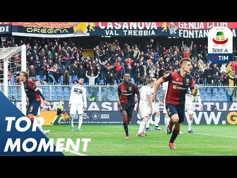 Krzysztof Piątek Scores Stunning Top Corner Goal   Genoa 3-1 Atalanta   Top Moments   Serie A