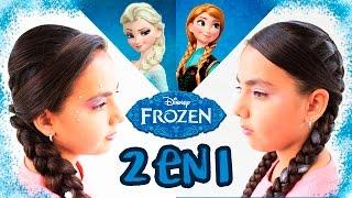 Peina con trenza | Peinado Elsa y Anna Frozen | Trenza para Halloween