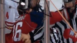 KHL Player PUNCHES Referee?!?!