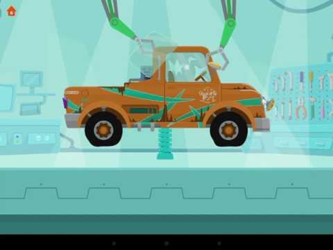 Машинки. Мультик игра перевозим и чинем пикап для дитей