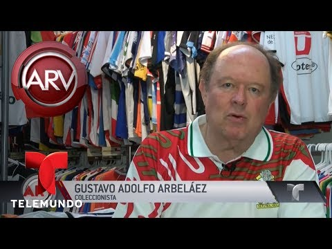Coleccionista tiene casi 6 mil camisetas de fútbol | Al Rojo Vivo | Telemundo