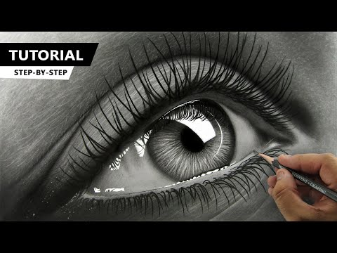 how to draw hyper realistic eye tutorial video by ali haider