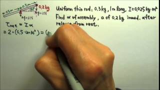 Rotation: Newton's Second Law for Rotation Problem 2
