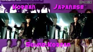 TVXQ!!! - Purple Line - Korean  - Japanese Mix With MV Comparison