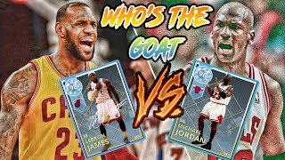 Who Is The Real Goat? Lebron James Or Michael Jordan | NBA 2K18 MyTeam Gameplay