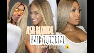 BEYONCÉ ASH BLONDE USING BOX DYE ONLY!?  FT. RPGSHOW