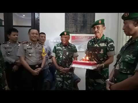 Dandim 0711/Pemalang berikan kejutan Ulang Tahun Bhayangkara ke- 72 Di Polres Pemalang