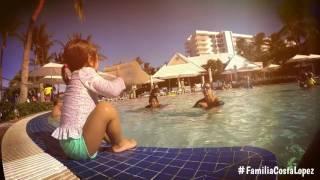 Alaïa, Adamari y Toni en un día de playa en familia.
