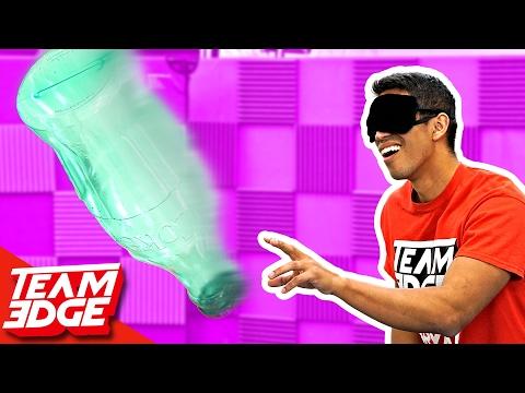 Blindfold Bottle FLIP Challenge!!