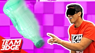 Blindfold Bottle FLIP Challenge!!