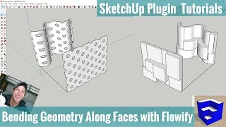 Bending Objects Along Complex Faces with Flowify for SketchUp - SketchUp Extension Tutorials