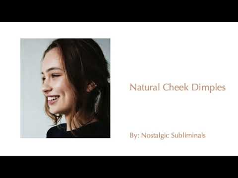 Get Natural Cheek Dimples ♡ || Nostalgic Subliminals