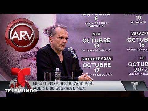 Miguel Bosé llora la muerte de su sobrina Bimba Bosé | Al Rojo Vivo | Telemundo