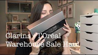 Clarins and l'Oréal Warehouse Sale Haul (also CCO!) - Nov. 2014