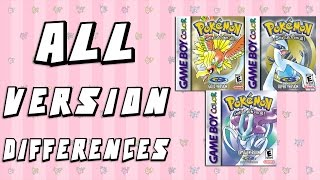 All Version Differences in Pokemon Gold, Silver & Crystal
