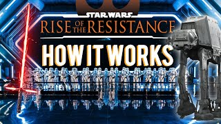 How Rise of the Resistance Works (WDW & Disneyland)
