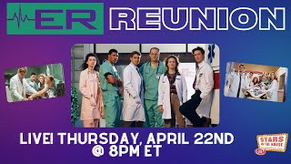 ER Reunion|Stars in the House, Thursday 4/22 at 8PM EST. Series streaming exclusively on @Hulu.
