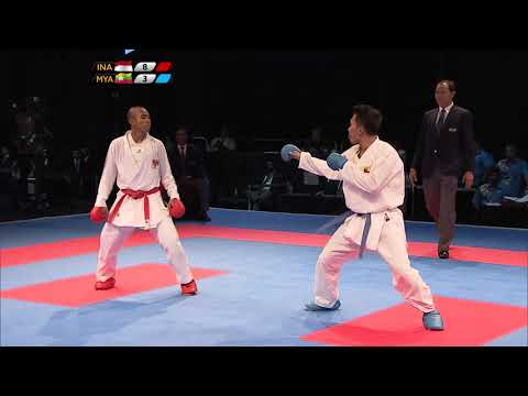 KL2017 29th SEA Games | Karate - Men's Team Kumite MEDAL BOUTS | 24/08/2017