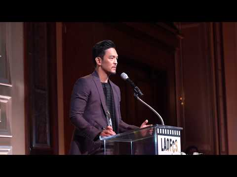 John Cho receives the Acting Achievement Award at the 2nd Annual LAOFCS Awards