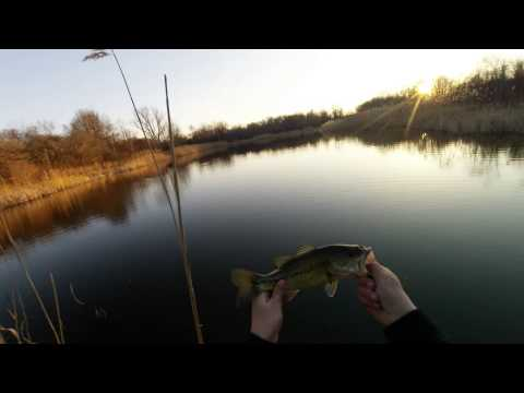 Early Spring Pond Bass Fishing
