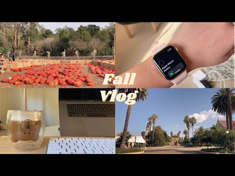 Fall weekend 🍂👻| Apple Watch Series 6 unboxing | silent vlog