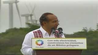 preview picture of video 'Inauguración de las Centrales Eólicas Oaxaca I, II y La Venta III (evento completo)'