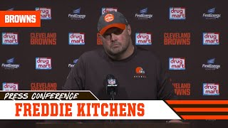 Freddie Kitchens on Suspensions & Win vs. Steelers | Cleveland Browns