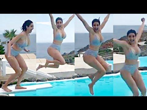 Karishma Tanna Bikini Jump Slow Motion Video😍😍