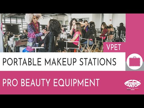 video VPET Mobile compact makeup studio with trays