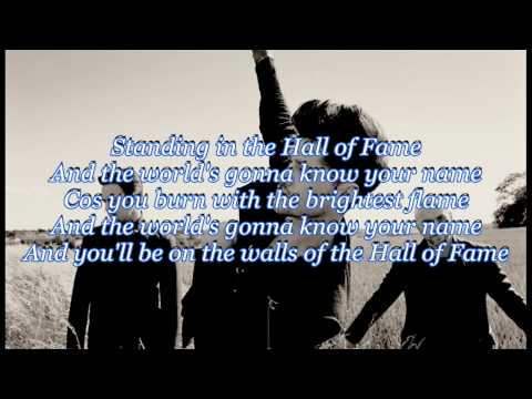 The Script - Hall Of Fame Ft. Will.I.Am [Lyrics HD 720p-3D] Mp3