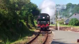 preview picture of video 'Steam Engine No 141 TB 424 (ex 4424 East) on the Paimpol to Pontrieux Line'