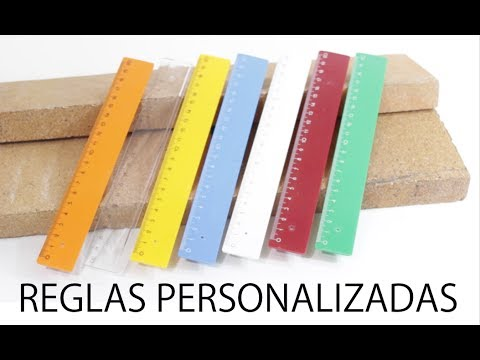 ✅ Reglas personalizadas #1 Regla de 20 cm de plástico de colores