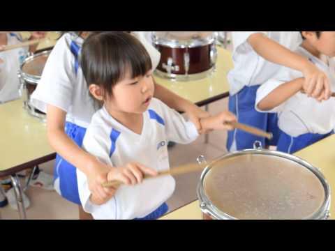 【慶応幼稚園(愛媛・松山)】太鼓を叩いたよ!(2015.7.3)