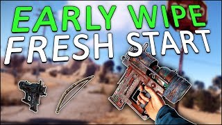 STARTING my FIRST WIPE of the NEW YEAR! - Rust Solo #1